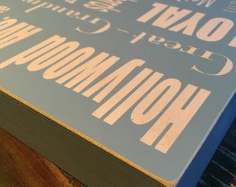 12x12, Personalized Word Collage, Custom Wood Subway Sign, Subway Art