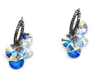 Fashion sparkling swarovski crystal earrings