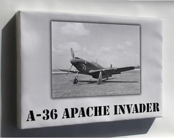 Canvas 24x36; A-36 Apache Invader