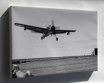 Canvas 24x36; Navy Grumman Af-2S Guardian (Vs-37) Uss Badoeng Strait 1954