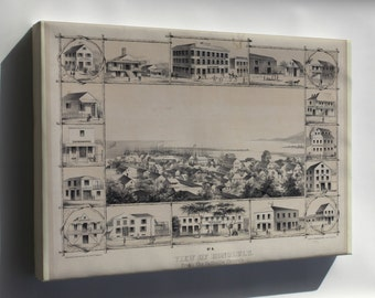Canvas 24x36; No. 4. View Of Honolulu. From The Catholic Church. (C. 1854) #031215