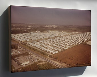 Canvas 24x36; Huge Trailer Park Encroaches Upon The Boundaries Of The Everglades National Park Nara 544629