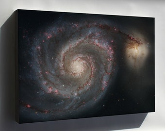 Canvas 24x36; Whirlpool Galaxy Messier 51 Galaxy