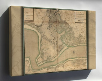 Canvas 16x24; Map Of Annapolis Royal Nova Scotia 1753