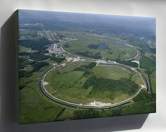 Canvas 16x24; Fermilab Fermi National Accelerator Laboratory Particle Accelerator