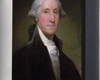 Canvas 16x24; Portrait Of George Washington By Gilbert Stuart P10
