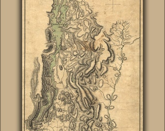 16x24 Poster; Map Of Lake Champlain And Lake George 1777