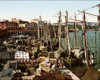 16x24 Poster; Muelle San Francisco, Havana, Cuba, 1904 #031215