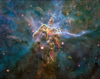 16x24 Poster; Mystic Mountain Inside Carina Nebula Hubble Space Telescope Image