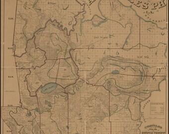 16x24 Poster; Map Of Avoyelles Parish, Louisiana 1879