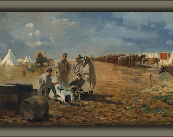 16x24 Poster; A Rainy Day In Camp By Winslow Homer 1871.Jpeg_Files