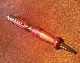 Hand-turned Exotic Wood Padauk and Purpleheart Ink Pen