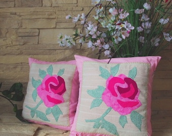Cushion set roses