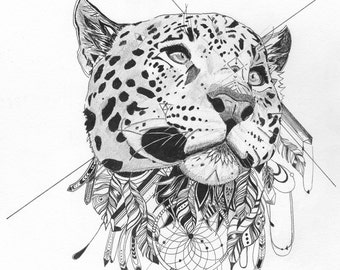 Contemplation - Tribal Leopard