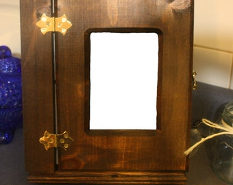 Beautiful Rustic Wooden Photo Album with Stand