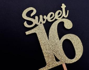Gold sweet 16 Etsy