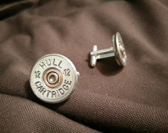 Cartridge bullet cufflinks