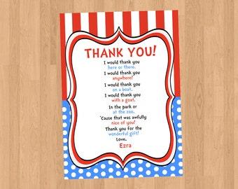 Dr Seuss Thank You