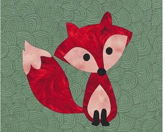 Fox Applique Pattern, Applique Pattern, Quilt Applique, Fox Applique, Little Fox Applique, Applique Design, Applique Block, Forest Animal