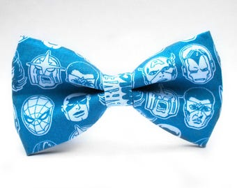 Marvel Bow Tie | Bow Tie for Men | For Him | Bowtie | Self Tie | Dog Bow Tie | Mens Bow Tie | Boys Bow Tie | Superhero | Wedding Bow Men