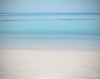Ocean canvas, beach photography, panoramic art, abstract, fine art photography, nautical, oversized wall art, blue, white, 16x24,24x36,32x48