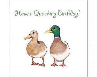Duck Birthday Card 'Have a Quacking Birthday'