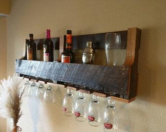 Reclaimed Oak Barn Wood Wine Rack