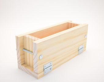 Tall Skinny Adjustable Soap Mold  3 - 1 lb Cold Process bar Loaf Mold Wooden Wood
