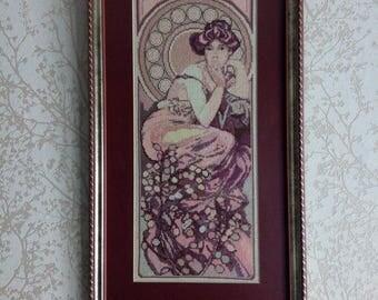 "Cross-stitch painting ""Topaz. Serie ""Precious stones""."