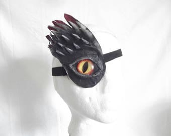 Punked Living Aids: Customised medical eyepatch 3d dragon demon devil theme Cosplay Goth Punk Fancy Dress, handmade in uk, FREE P&P in uk