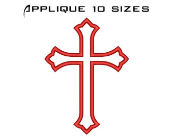 Religious Embroidery Designs - Machine Embroidery Spiritual Cross Pattern