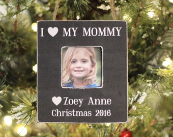 Mom Ornament 'I Love My Mommy' Personalized Christmas Ornament GIFT for Mom Mother from Daughter Son Child
