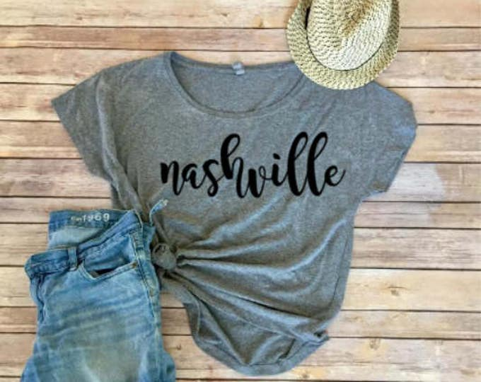 Nashville Dolman - Triblend Tee - Women's Shirt - Women's Clothing - Nashville Bride - Girls Trip Shirt - Nashville Tee
