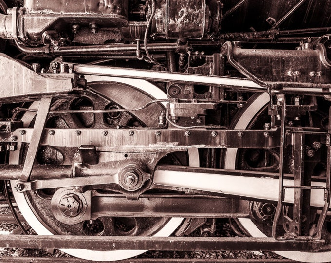LOCOMOTIVE DETAIL 4 | modern fine art photography blank note cards custom books interior wall decor affordable pictures –Rick Graves