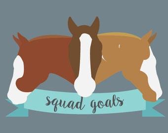 Squad Goals Custom Sticker