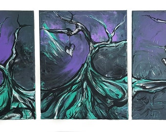 Into Another World | Triptych 48x20 Acrylic on Canvas