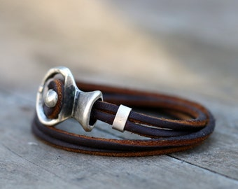 Bohemian leather wrap bracelet, womens bracelet,  handmade, leather jewellery, womens leather bracelet, red bracelet