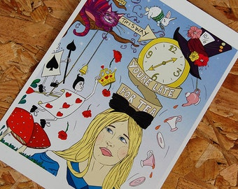 Alice In Wonderland A5 Postcard