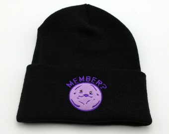 South Park Member Berries Embroidery Beanie Hat South Park Hat Member Berries Beanie South Park Beanie Cartman