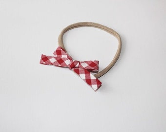 Red Picnic Plaid Hand-Tied Bow