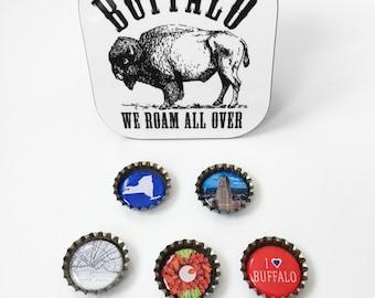 I LOVE Buffalo, NY Bottle Cap Magnets