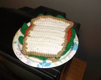 Crochet Pretend Play Bologna Sandwich