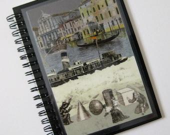 Unique Peter Blake Venice print A6 (11x15cm) spiral-bound notebook.