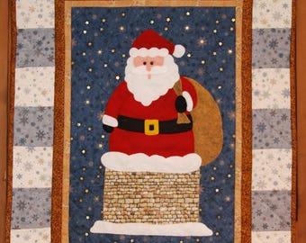 Santa Wall Hanging Kit, Father Christmas Wall Hanging Kit, Santa Wall Hanging Pattern, Quilting Pattern, Patchwork Pattern, Wall Hanging