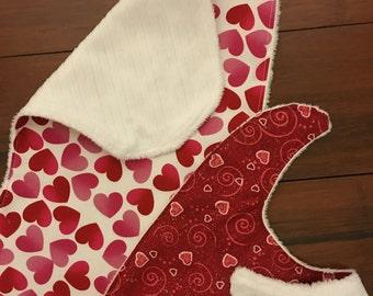 Valentine Bib and Burp Cloth Set