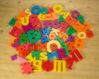 Alphabet Magnets - Complete Set with Extras - Some Russian Letters