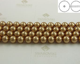 Swarovski #5810 Crystal Bright Gold Pearls Round Beads 3mm 4mm 6mm 8mm
