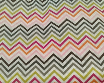 Fast Shipping Multi-color chevron scrub top sizes xs to xl made to order 100% Cotton made to order with choice of four (4) neck designs