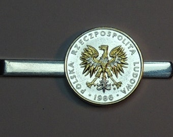 Tie Clip - Polish  Eagle - Gorgeous 2-Toned Gold & Silver coin