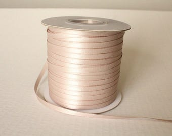 5mm Skinny Taupe  Double Face Satin Ribbon 3/16 in.